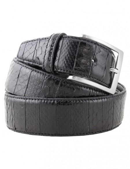 Cintura di pitone da uomo nera