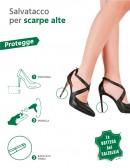 Salvatacchi trasparenti o neri per scarpe alte
