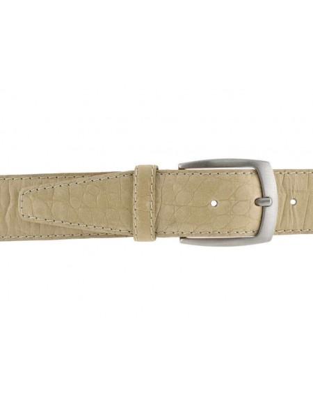Cintura uomo donna pelle vitello stampa cocco beige