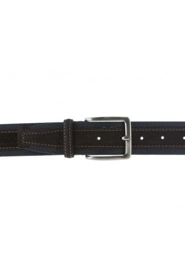 Cintura uomo tela e camoscio da 4 cm artigianale testa di moro e testa di moro