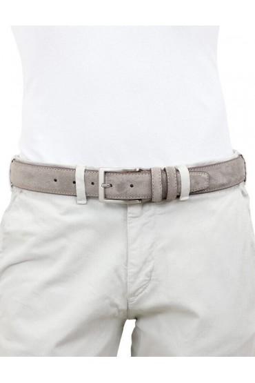 Cintura da uomo in camoscio artigianale tortora