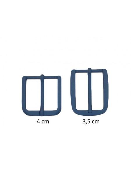 Fibbia anallergica nickel free gommata avion per cinture da 3,5 e 4 cm