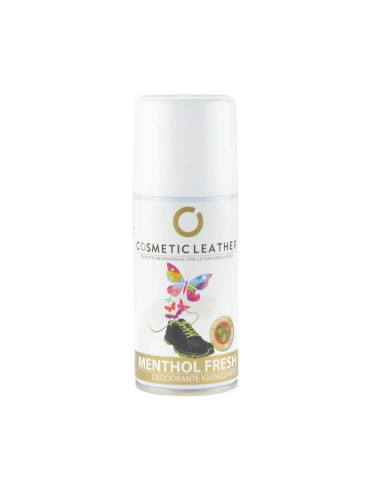 Deodorante spray antibatterico al mentolo per igienizzare le scarpe