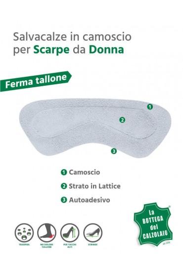 Salva tallone lattice e camoscio adesivo per scarpe 2 pz