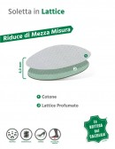 Mezza soletta in lattice e cotone 2 pz