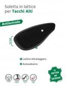 Cuscinetto antiscivolo in lattice nero per scarpe con tacco alto 2 pz
