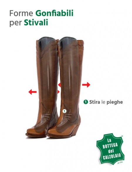 Tendistivali gonfiabili neri - Tendi stivale Cosmetic Leather